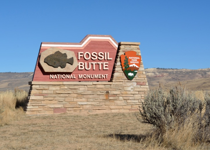 Fossil Butte NM sign