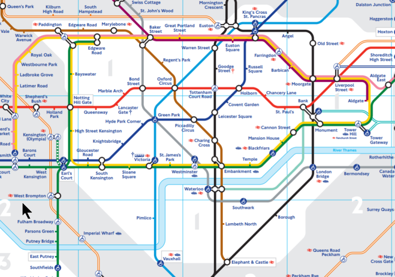 Tube Map Zone 1