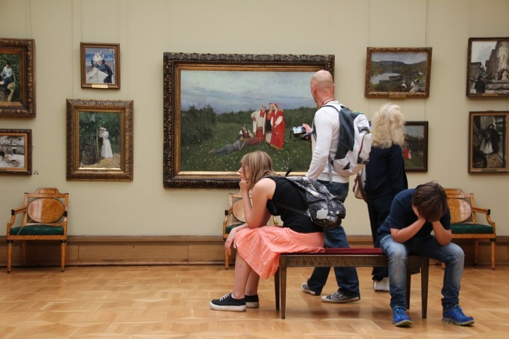 Bored in museum