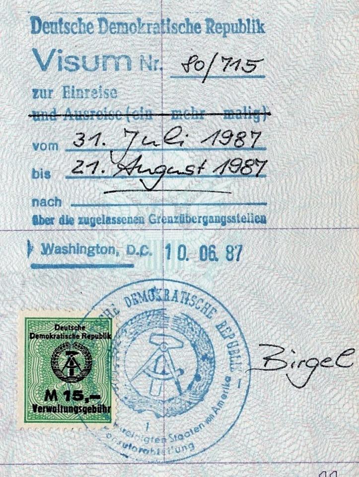 DDR visa