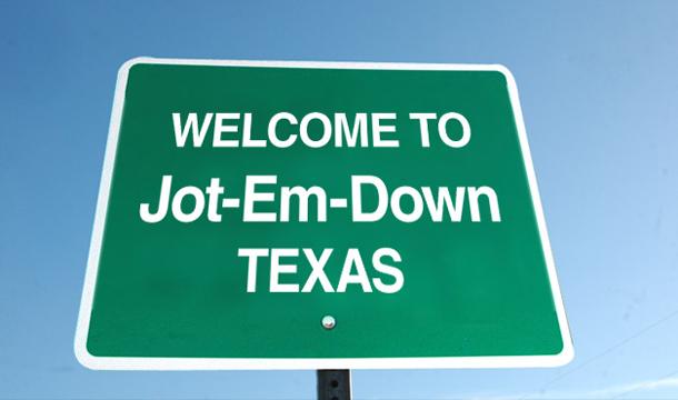 Jot em down TX