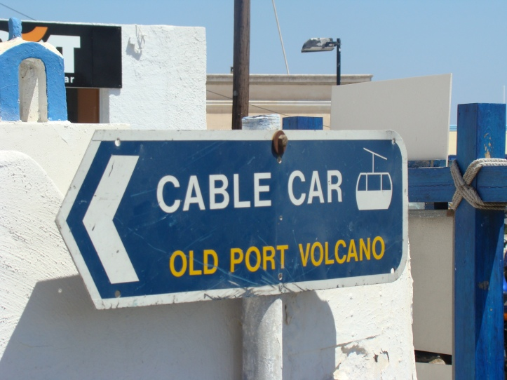 cable car sign