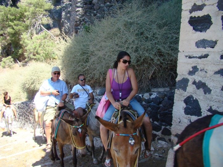riding donkeys